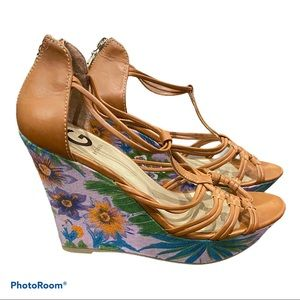 G BY GUESS Flower Wedges